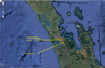 Overview of port relocation to tauranga or Marsden Point