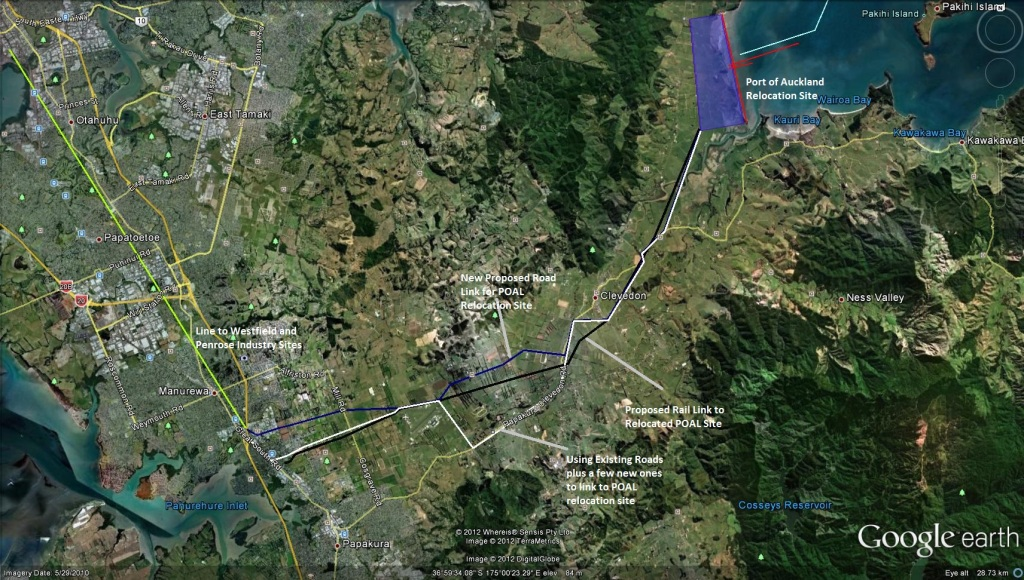 Draft Non Annotated Drawing on POAL Relocation to SE Auckland