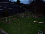 First of the raised vege beds under construction