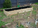 #1 Raised Garden Bed Complete and awaiting the Garden Mix
