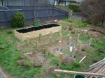 Work progressing on Raised Beds #2 and #3