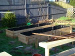 Raised Bed #2 all complete and now awaiting the garden mix