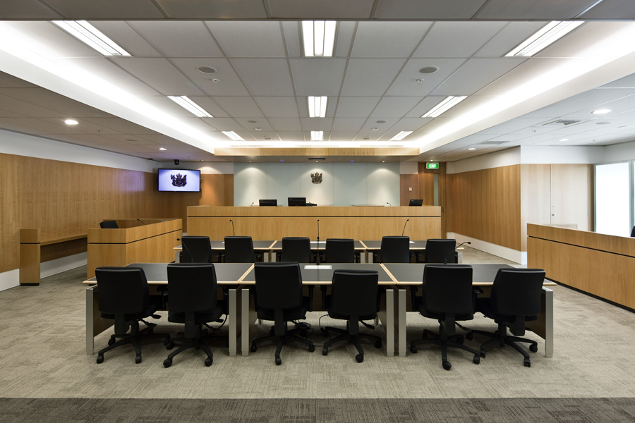 Inside the room where The Environment Court can sit Courtesy of http://www.nzwood.co.nz/industry-news/timber-design-awards-2010-entrants/ministry-of-justice-environment-employment-courts/