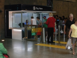 Pay Here Booth at Britomart
