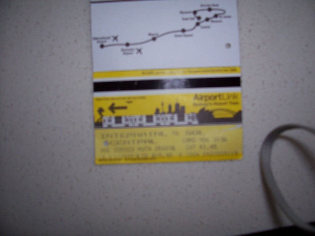 Sydney Heavy Rail Ticket - Airport Line