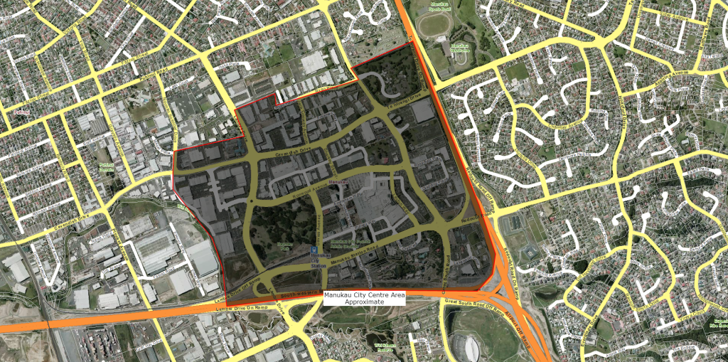 Manukau City Centre Area