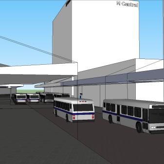 Manukau MK3 looking down bus interchange to MIT