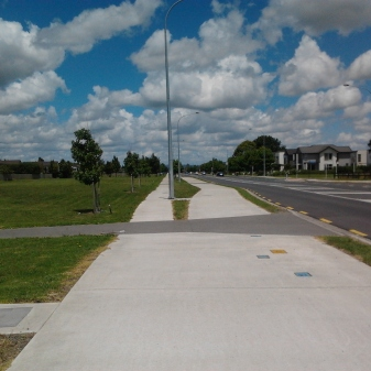 Start of dedicated cycle and footpaths in Addison