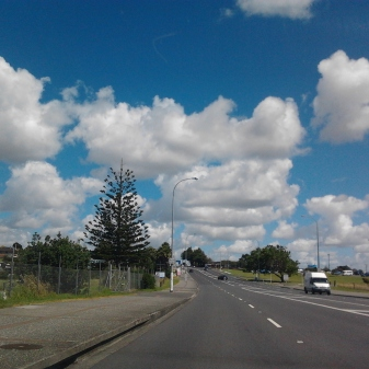 Separated but still shared path on Great South Road heading towards Manurewa