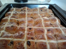 HOT CROSS BUNS All gone within an hour of coming out of the oven