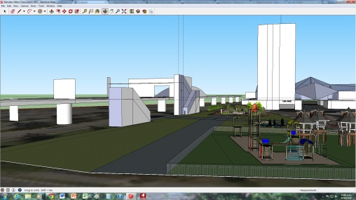 Working on the Manukau Mall Station