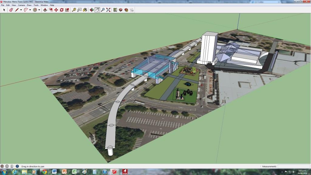 Manukau Mall Station and the Sky Train Line