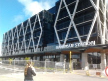 Outside the MIT building and Manukau Station Entrance
