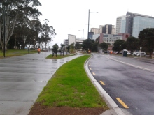 Davis Ave Boulevard To the left is a shared path to the right is a footpath