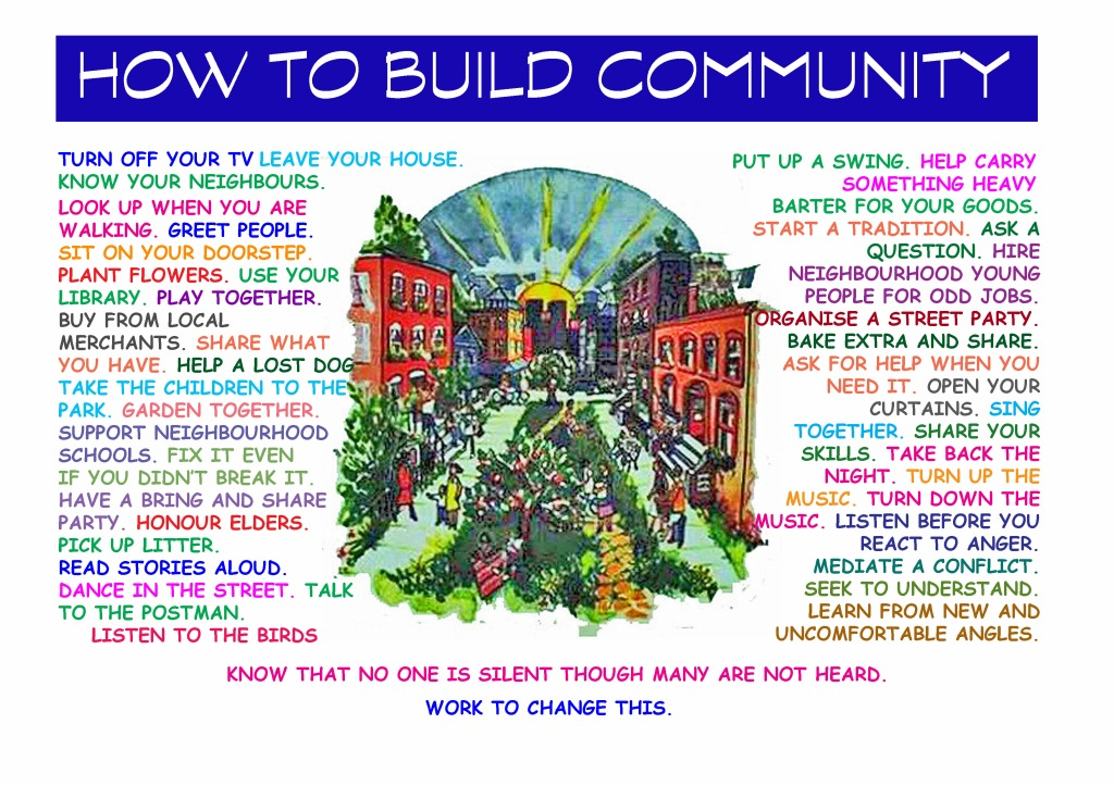 How to build community Source: Seems to be freely available on Google