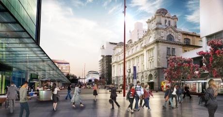 Lower Queen Street flipped from Bus Interchange to former pedestrian mall