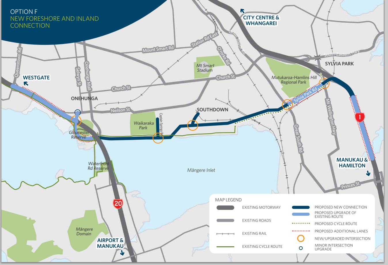 NZTA East West Option F – Talking Southern Auckland