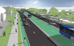 Graphic Impression of South Eastern Bus Way that would could also used for the Southern Airport Line