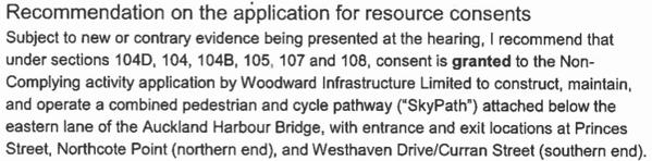 Skypath recommended for consent