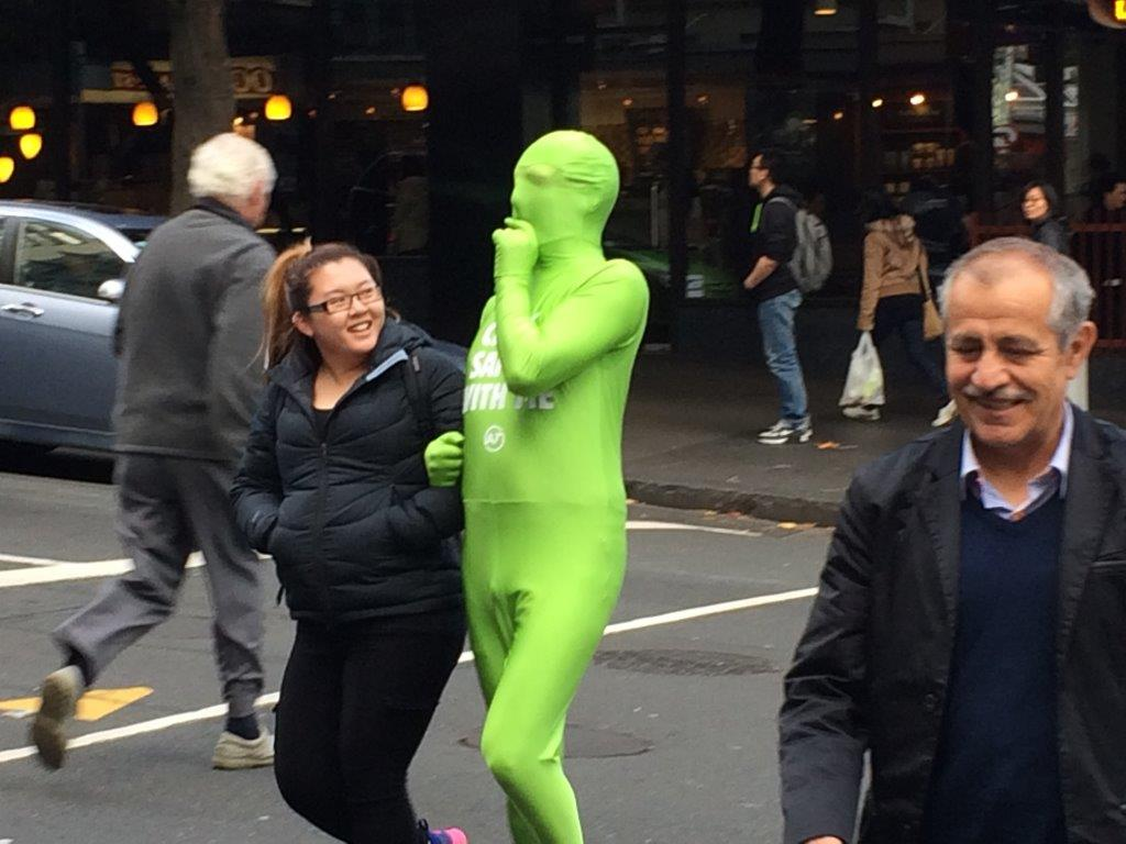 The Green Man helping YOU cross the Road Source: Auckland Transport