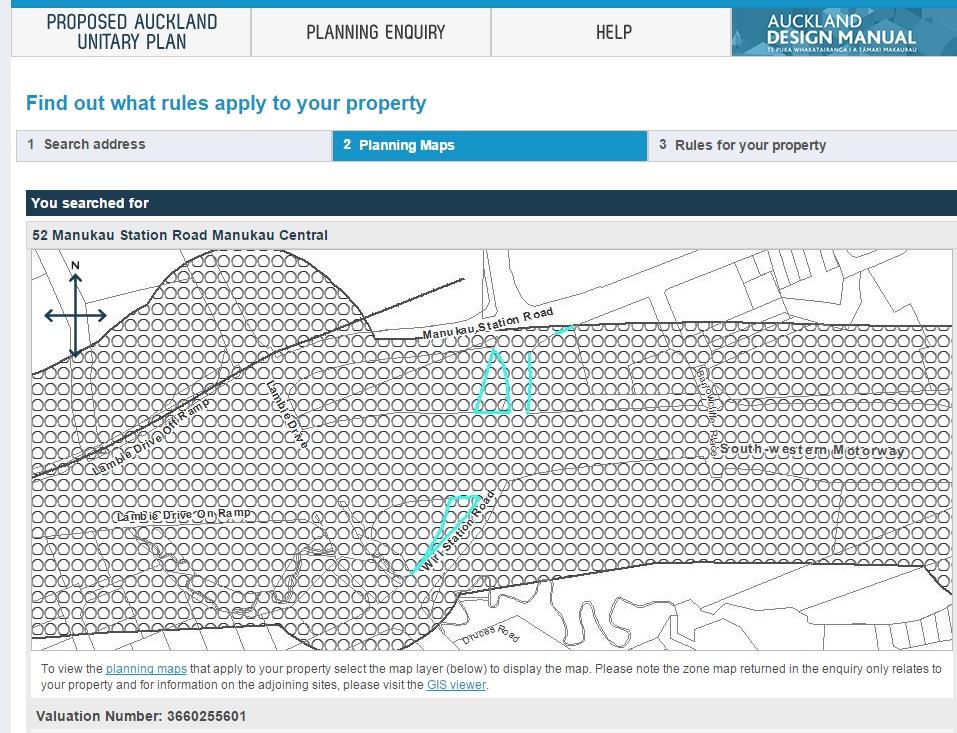 Manukau housing site zone map transport overlay