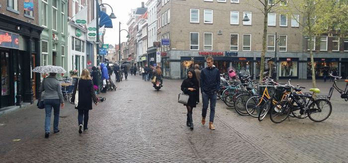 Central Delft - walking and cycling is a pleasure
