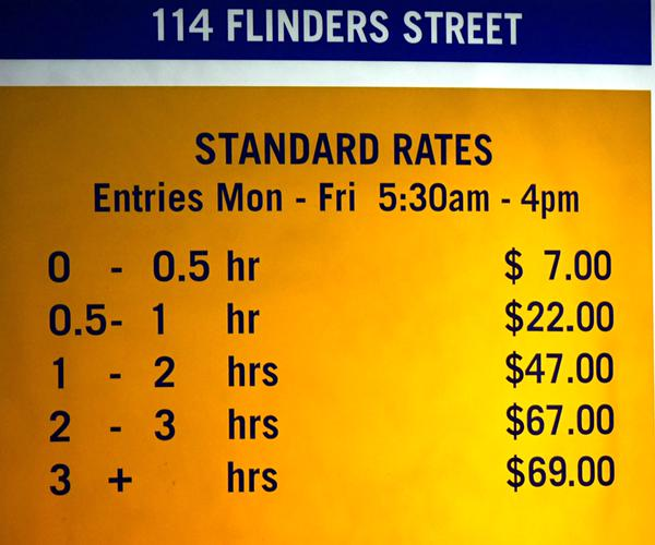 Melbourne Parking Rates