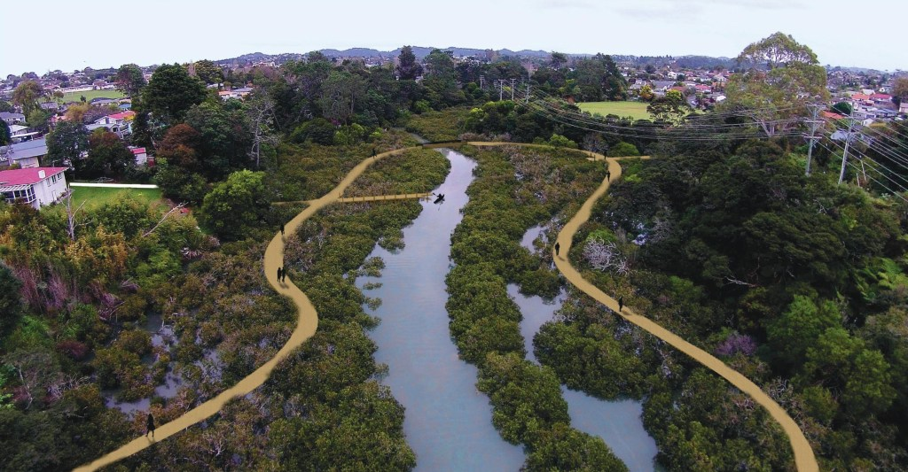 Te Whau Pathway concept image Source: Auckland Council