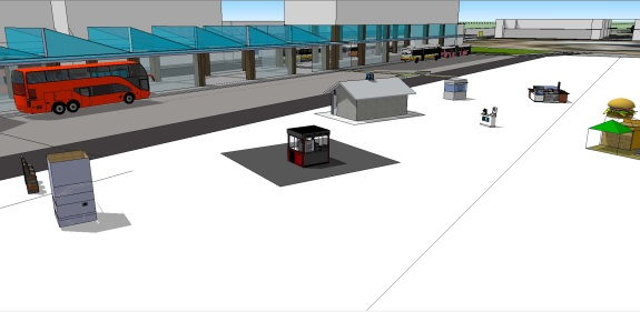 Manukau Interchange BR Version MK 5 MBTI 15 under way Kiosks belong to their owners