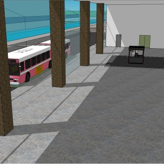 Manukau Interchange BR Version MK 5 MBTI Final macro version 2.10. Yes that is the kebab kiosk at the eastern end