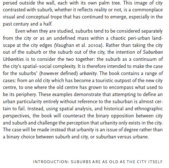 Suburban urbanites: Suburbs as chaos? Source: https://www.ucl.ac.uk/ucl-press/browse-books/suburban-urbanities: