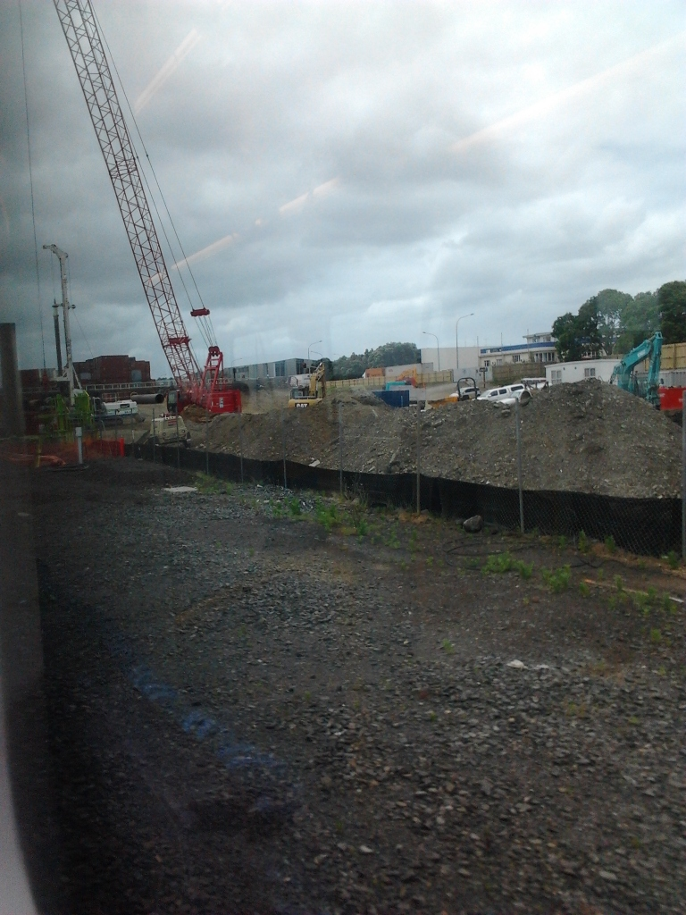 Otahuhu Interchange under construction December 2015