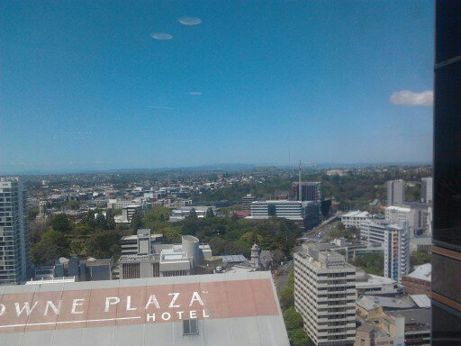 Enjoying the views out of Level 26 of the Council tower Oh and what can I scheme for the Orakei Ward