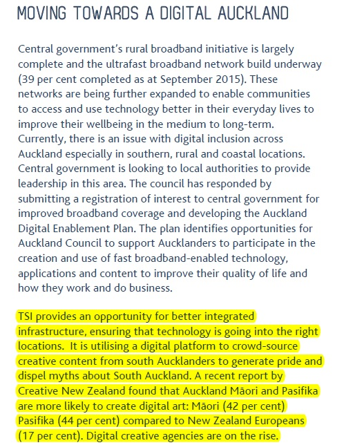 Auckland Plan 2015 update digital agencies Source: Auckland Plan Annual Implementation update