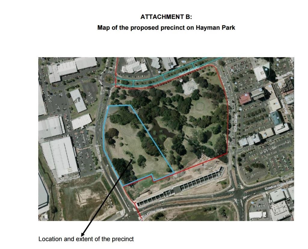 Te Papa North precinct Source: https://www.scribd.com/doc/294793260/080-Ak-Cncl-Public-Open-Space-Hayman-Park-Precinct-D-Wong-Planning
