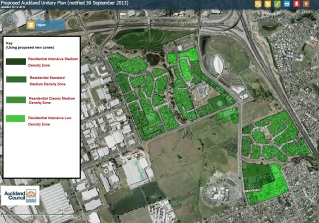 Manukau Unitary Plan amended res zones evidence