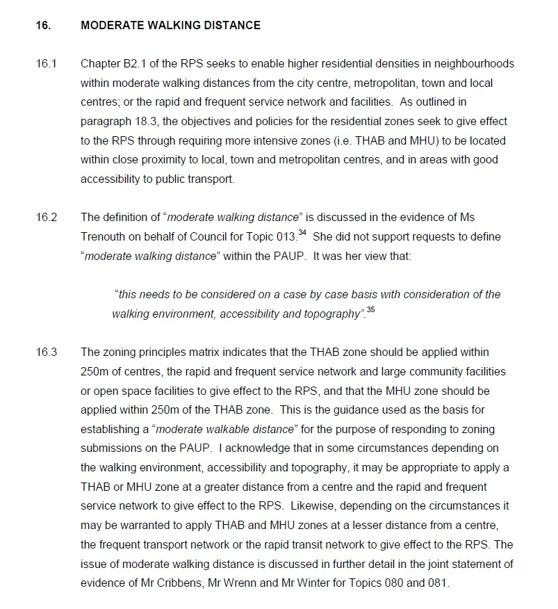 Moderate Walking Distance Unitary Plan Source: https://www.scribd.com/doc/298937878/081-Ak-Cncl-General-Rezoning-J-Duguid-General-Statement