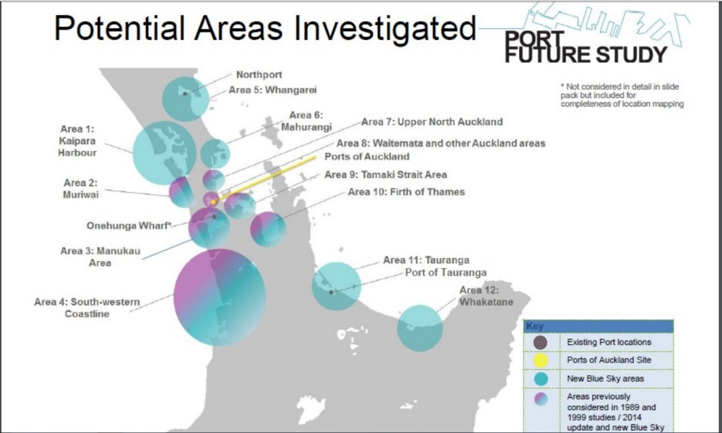 Port of Auckland area investigation Source: Port Future Study Group
