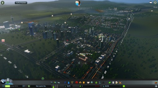 Pleasant District - the first Leisure District. Leisure Districts contain clubs, cafes and other attractions your people can chill at
