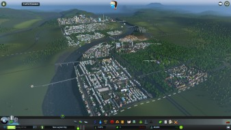 Walnut Hills with the transport links going over the river ready for urban expansion
