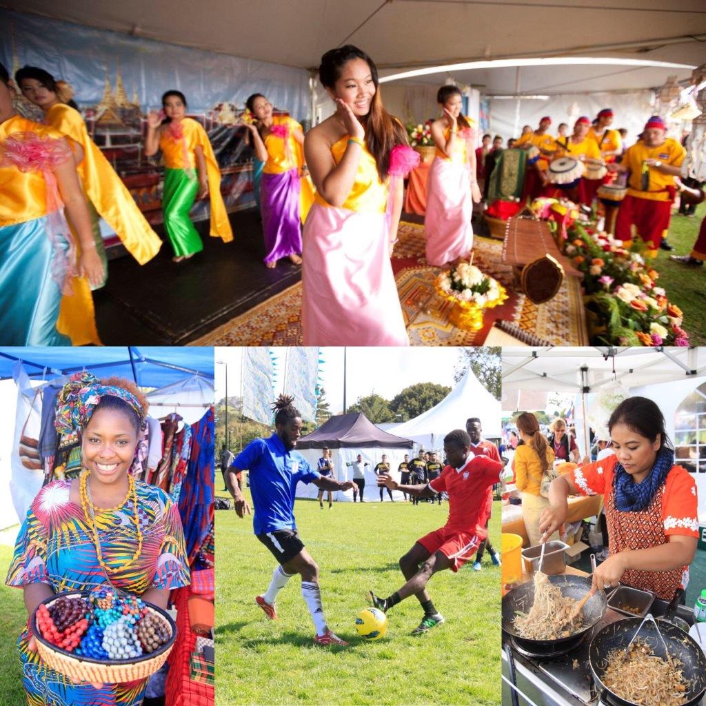 Auckland Internationa; Cultural Festival 2016 montage. Credit Miguel Ilagan