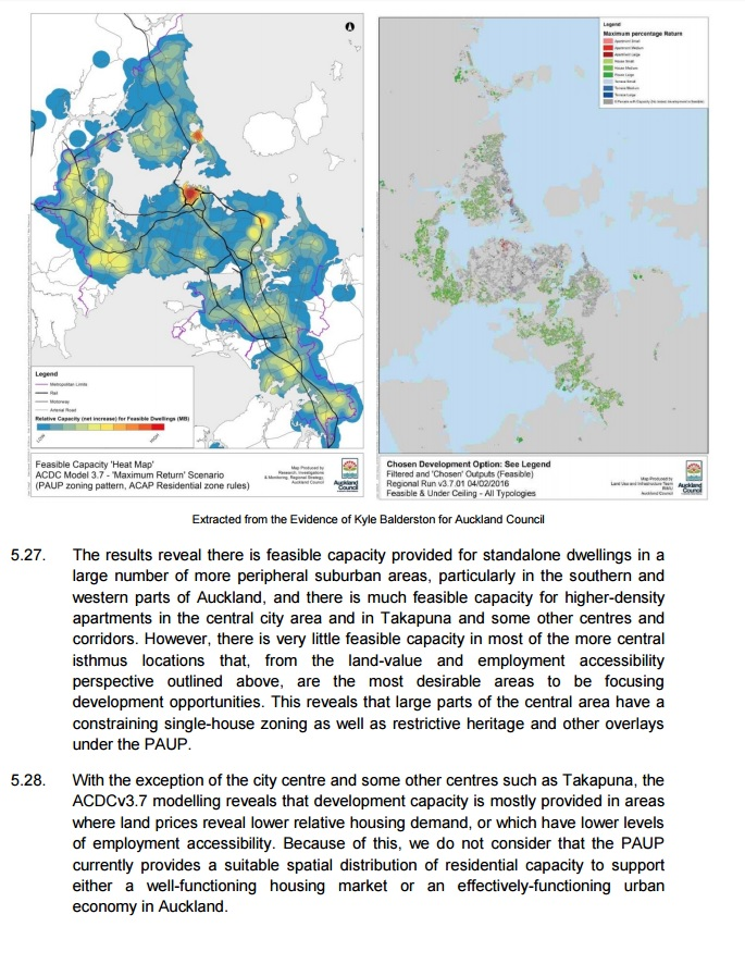 MBIE Capacity heat maps issues.  Source: MBIE to the IHP
