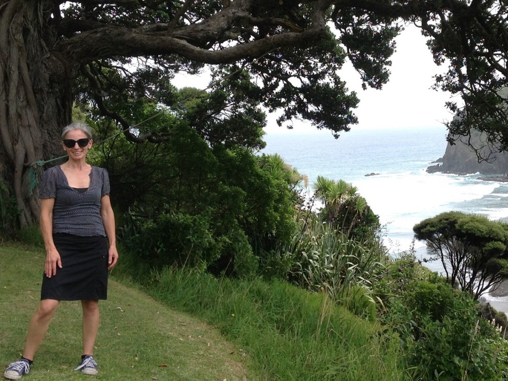 Theatre artist Kate Parker at Anawhata in the Waitakere Ranges Source: Auckland Council