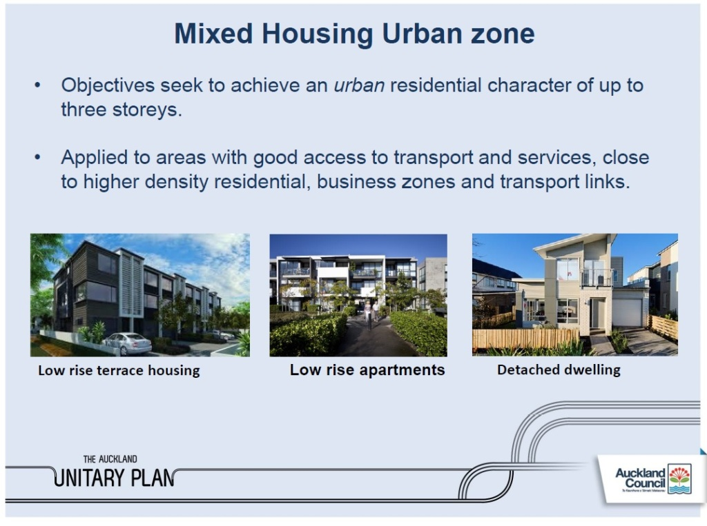 Unitary Plan Mixed Housing Urban Zone update https://www.scribd.com/doc/303205806/Council-Position-of-the-Residential-Zones-to-081-Unitary-Plan