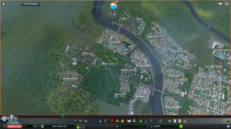 New urban areas tacking on to the existing area