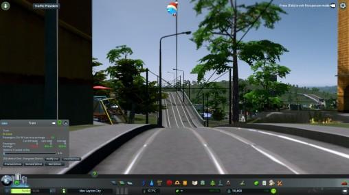 Exiting Bedford Park Interchange