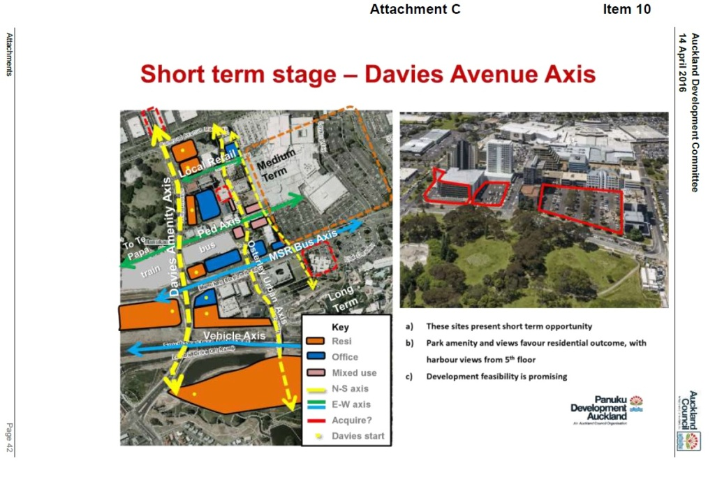 Davies Avenue potential axis Source: Panuku