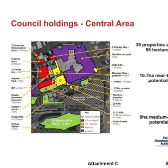 Council land holdings in Manukau