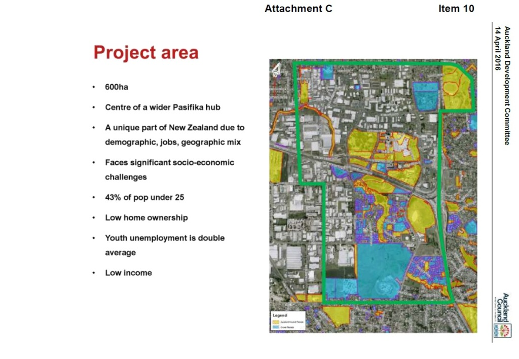 Manukau Project area Source: Panuku Development Auckland