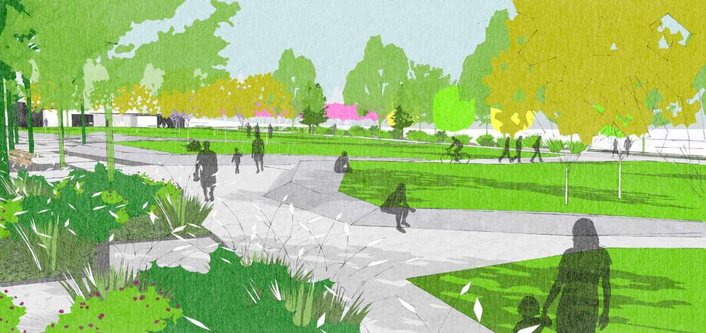 Westgate Town Park concept image Source: Auckland Council